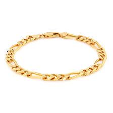 Men's Figaro Bracelet in 10ct Yellow Gold