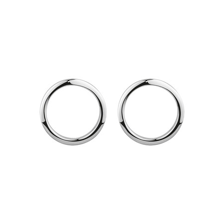 Open Circle Stud Earrings in 10ct White Gold