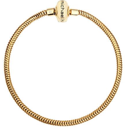 "Diamond Set & 10ct Yellow Gold 17cm (7"") Charm Bracelet"
