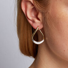Twist Hoop Earrings in 10ct Yellow & White Gold