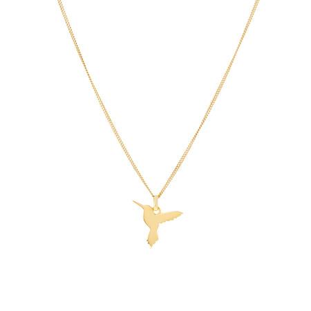 Hummingbird Pendant In 10ct Yellow Gold