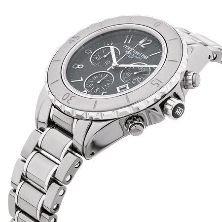 Unisex Watch in Grey Ceramic & Stainless Steel