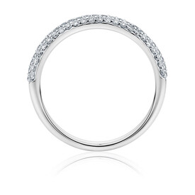 Evermore Colourless Wedding Band with 0.35 TW of Diamonds in 14ct White Gold