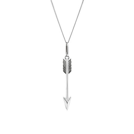 Arrow Pendant in Sterling Silver