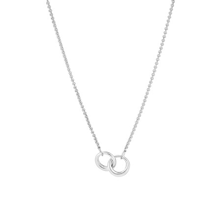50cm Double Circle Pendant In Sterling Silver