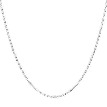 40cm/16'' Curb Chain in Sterling Silver
