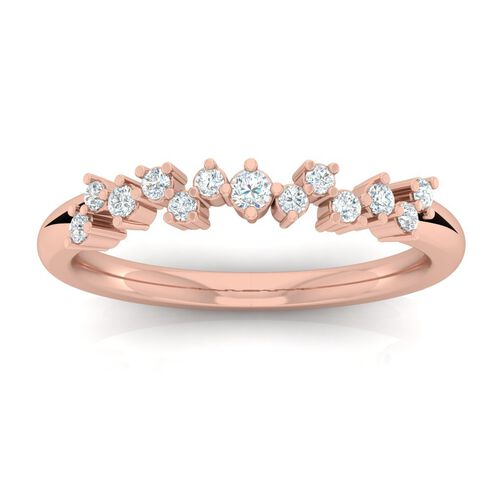 Ring with 1/4 Carat TW of Diamonds in 10ct Rose Gold