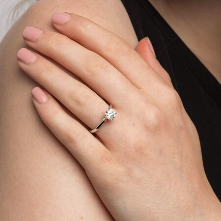 Southern Star Solitaire Engagement Ring With 1 1/4 Carat TW Of Diamond In 14ct White Gold