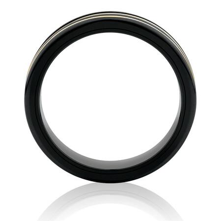 Ring in Black Titanium & 10ct Yellow Gold