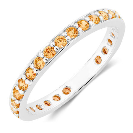 Champagne Cubic Zirconia Stack Ring