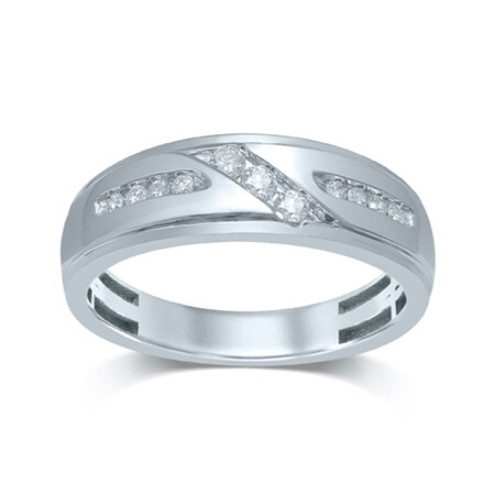 Channel Set Ring with 0.27 Carat TW of Diamonds in 10ct White Gold