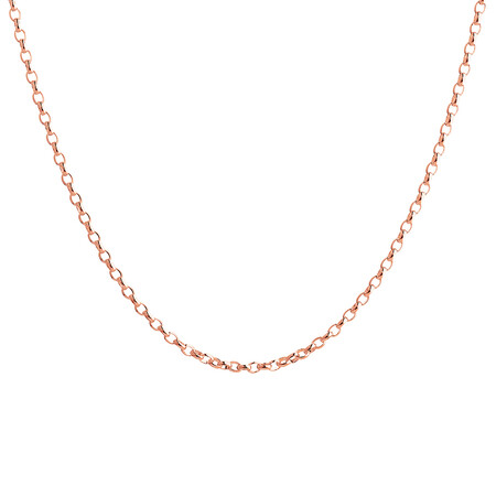 """60cm (24"""") Oval Belcher Chain in 10ct Rose Gold"""