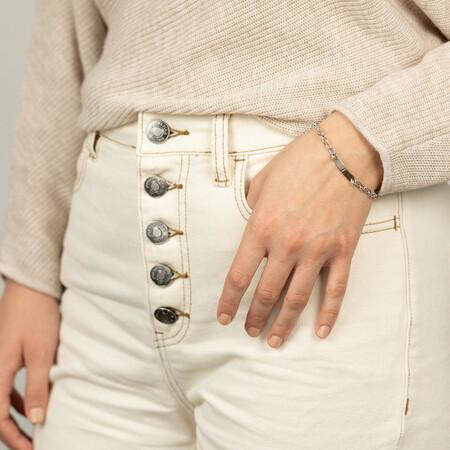 ID Link Bracelet in Sterling Silver