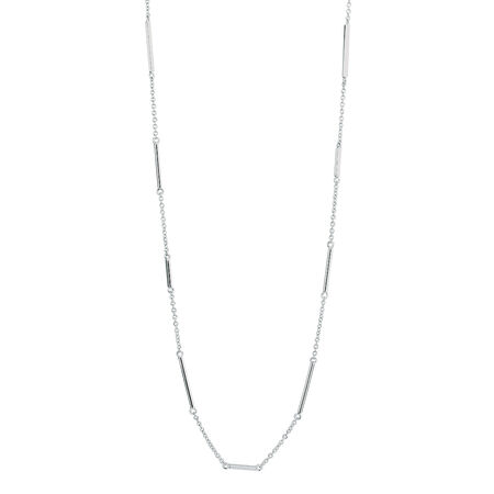 Sterling Silver 80cm Bar Necklace
