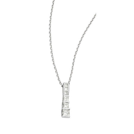 "45cm (18"") Cable Chain in 18ct White Gold"