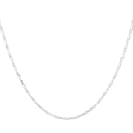 """45cm (18"""") Figaro Chain in Sterling Silver"""