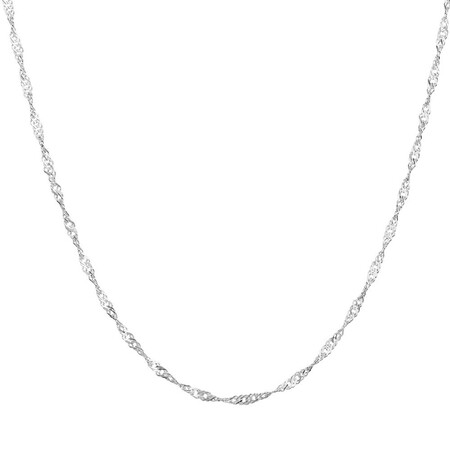 "50cm (20"") Singapore Chain in Sterling Silver"