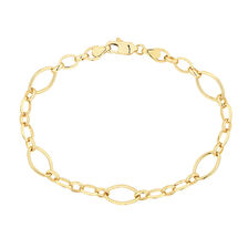 "19cm (7.5"") Fancy Bracelet in 10ct Yellow Gold"