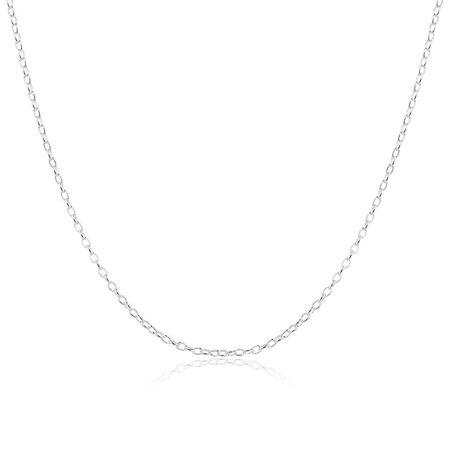 """70cm (28"""") Belcher Chain in Sterling Silver"""