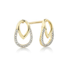 Online Exclusive - Earrings with Diamonds in 10ct Yellow Gold