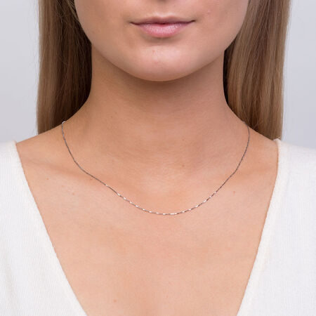 "45cm (18"") Box Chain in 10ct White Gold"