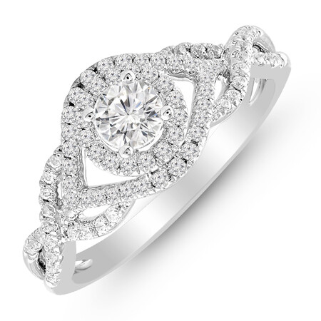 Ring with 0.65 Carat TW of Diamonds in 14ct White Gold
