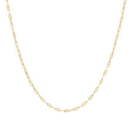 "40cm (16"") Hollow Fancy Chain in 10ct Yellow Gold"