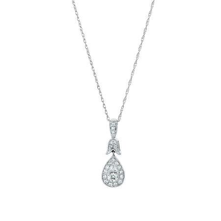 Sir Michael Hill Designer GrandAmoroso Pendant with 1/4 Carat TW of Diamonds in 10ct White & Rose Gold