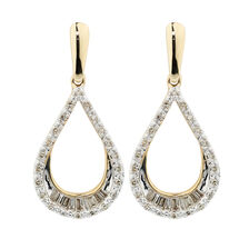 Online Exclusive - Drop Earrings with 1/4 Carat TW of Diamonds in 10ct Yellow Gold