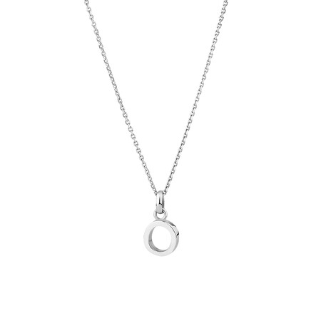 """""""O"""" Initial Pendant in Sterling Silver"""