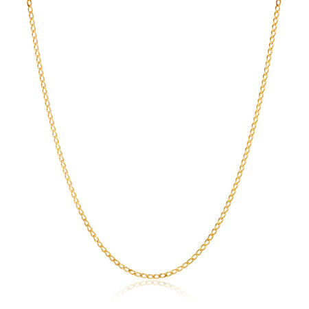 "50cm (20"") Curb Chain in 10ct Yellow Gold"