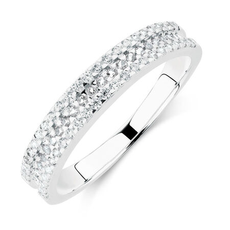 Online Exclusive - Ring with White Cubic Zirconia in Sterling Silver