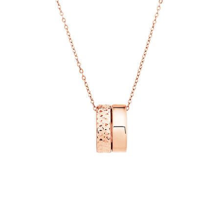 Double Round Pendants in 10ct Rose Gold