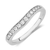 Wedding Band with 0.17 Carat TW of Diamonds in 18ct White Gold