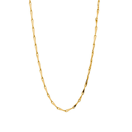 """45cm (18"""") Infinity Chain in 10ct Yellow Gold"""