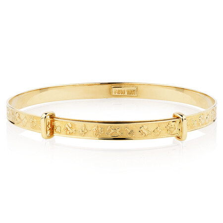 Expandable Baby Bangle in 10ct Yellow Gold