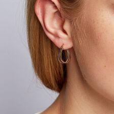Huggie Earrings in 10ct Yellow & White Gold