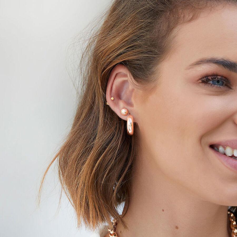 7mm Stud Earrings in 10ct Rose Gold