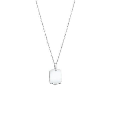 Plain Tag Pendant in Sterling Silver