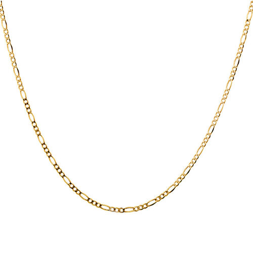 """60cm (24"""") Hollow Figaro Chain in 10ct Yellow Gold"""