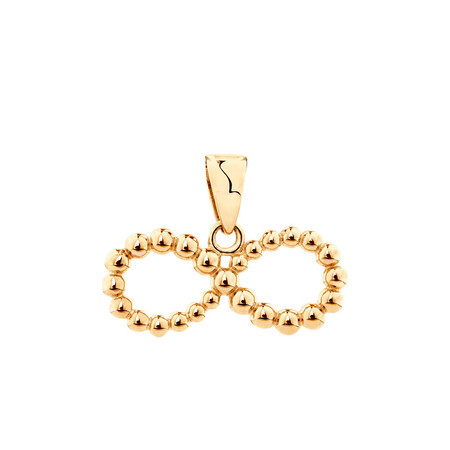 Bubble Infinity Pendant in 10ct Yellow Gold