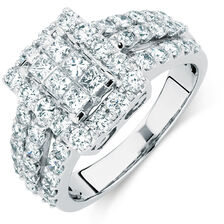 Online Exclusive - Engagement Ring with 1.97 Carat TW of Diamonds in 14ct White Gold