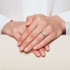 Sir Michael Hill Designer GrandAllegro Engagement Ring with 0.72 Carat TW of Diamonds in 14ct White Gold