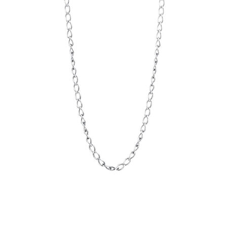 "Online Exclusive - 50cm (20"") Curb Chain In Sterling Silver"