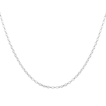 """50cm (20"""") Oval Belcher Chain in Sterling Silver"""