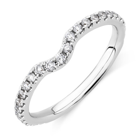 Sir Michael Hill Designer Wedding Band with 0.27 Carat TW of Diamonds in 14ct White Gold