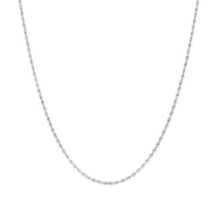 """50cm (20"""") Rope Chain in 10ct White Gold"""