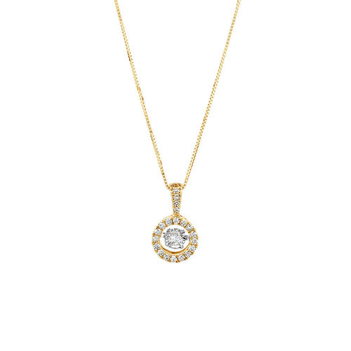 Everlight Pendant with 1/4 Carat TW of Diamonds in 10ct Yellow Gold