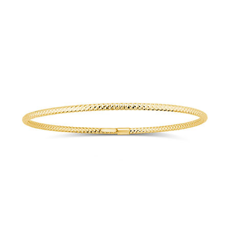 Patterned Bangle in 10ct Yellow Gold