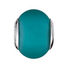 Teal Matte Murano Glass Charm